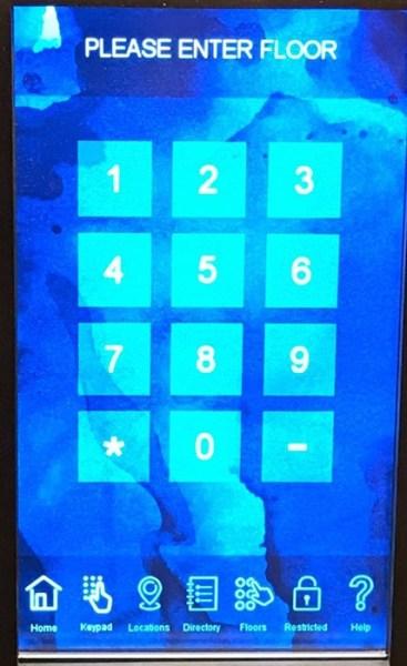 InterContinental DTLA Elevator Keypad