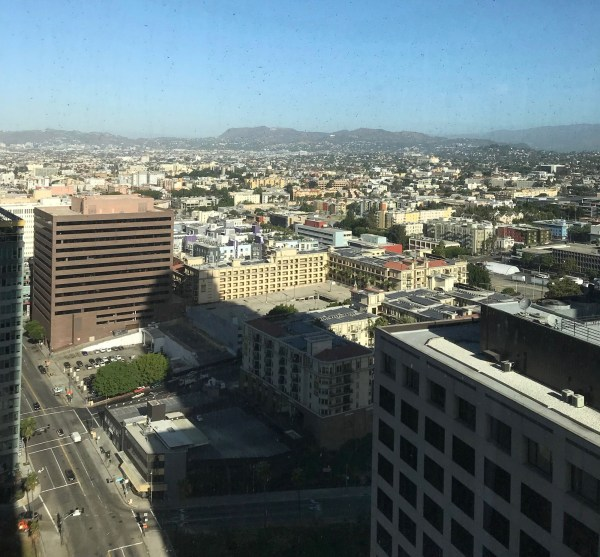 InterContinental DTLA View from Room (dirty windows)
