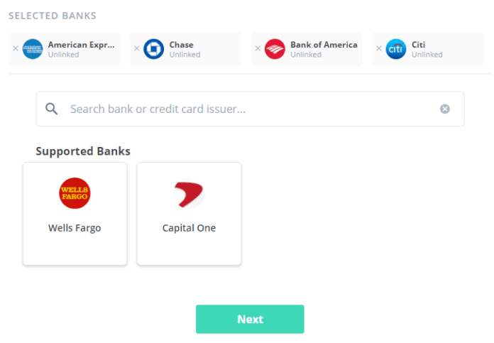 Birch Finance review connect bank accounts
