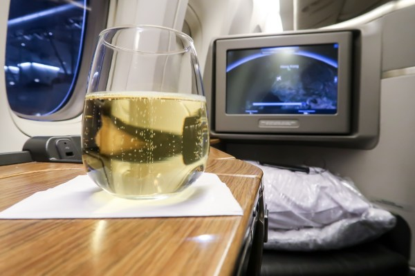 Airline fees. American Airlines First Class Pre-Boarding Drink