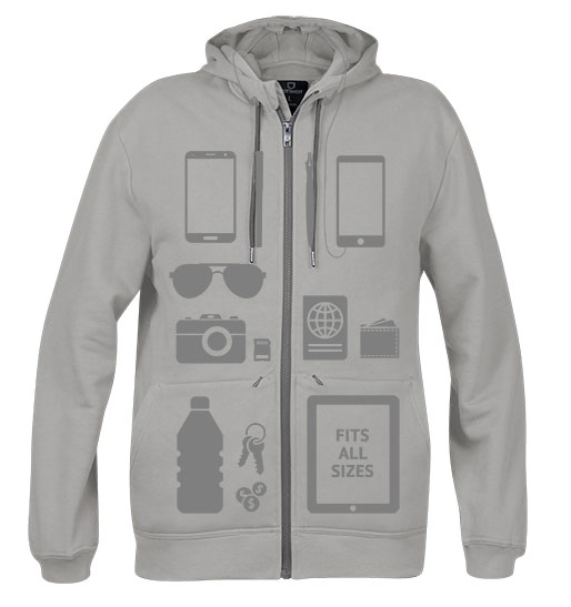 Airline fees. Scottevest hoodie xray-two-ash