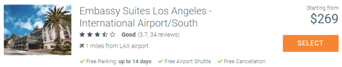 How to Save Money on Airport Parking Embassy Suites Los Angeles Airport South at ParkSleepFly