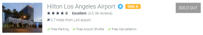 How to Save Money on Airport Parking Hilton Los Angeles Airport sold out at ParkSleepFly