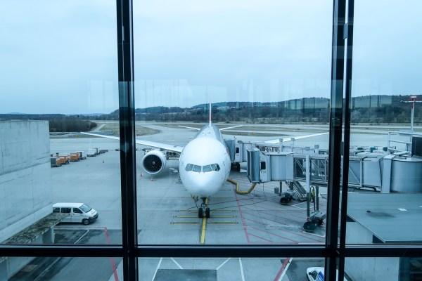 Swiss Air Business Class 777-300ER at Zurich Airport