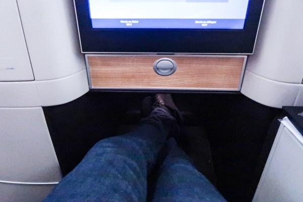 Swiss Air Business Class 777-300ER Leg Room