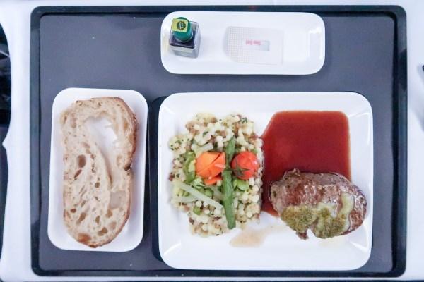 Swiss Air Business Class 777-300ER Main Course