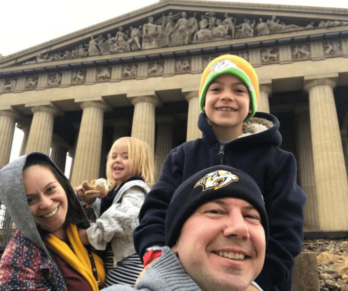 Parthenon Visit Music 2018-01 Huffman family