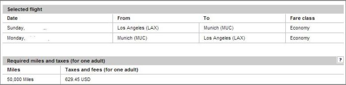 Lufthansa LAX to Germany flight cost