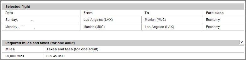 Lufthansa LAX to Germany flight cost