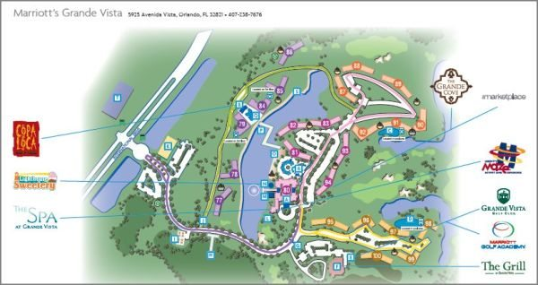 Marriott Grande Vista Orlando property map