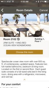 Embassy Suites Mandalay Bay iPhone room options