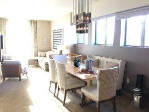 Kimpton Hotel Wilshire Santa Monica suite dining area