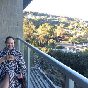 Kimpton Hotel La Jolla Anna on balcony