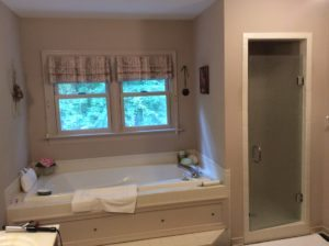 Master Suite Bathroom Remodel before Freestanding Tub
