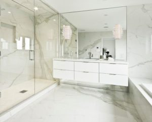 porcelain tile bathroom renovation
