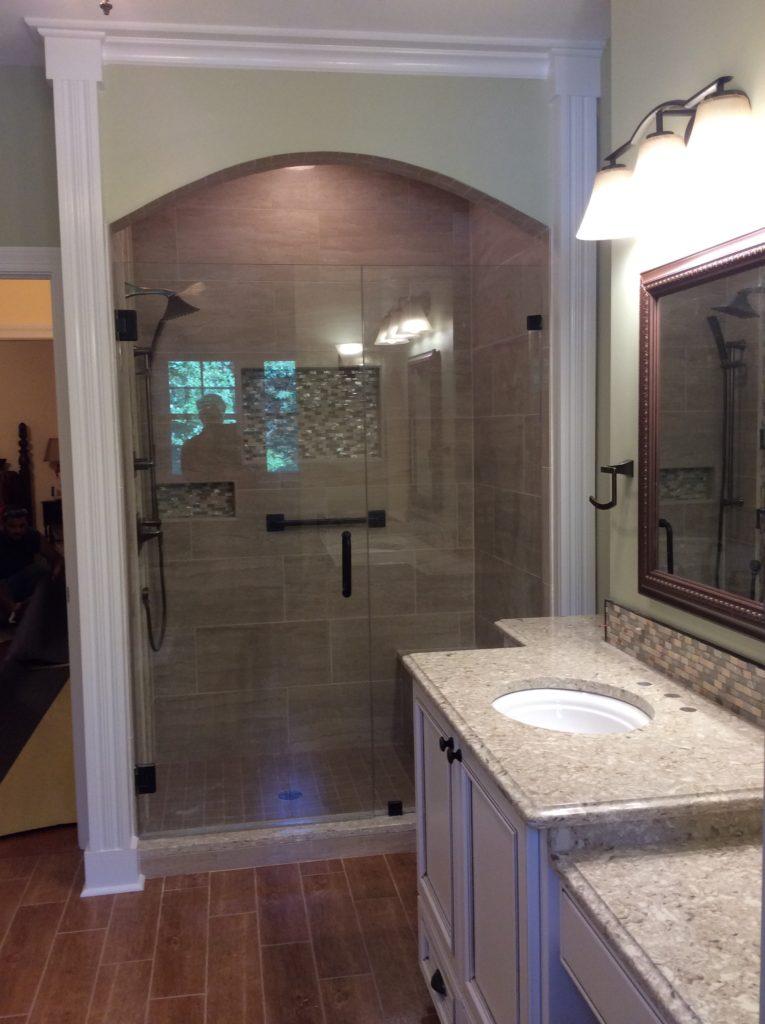 remodeling shower design grab bar aging in place