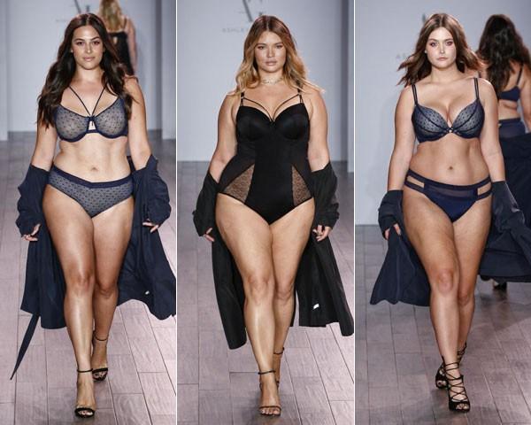 Modelos plus size no desfile da NYFW (Foto: Getty Images)