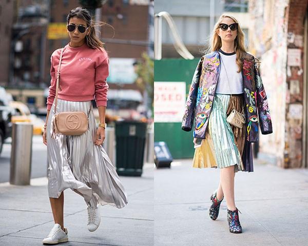 Combinar a saia com tênis e botinhas mais confortáveis são uma opção (Foto: Imaxtree)