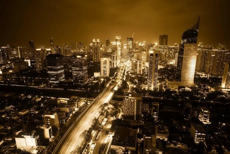 Jakarta di malam hari