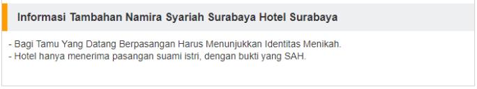 Contoh aturan hotel syariah di Pegipegi
