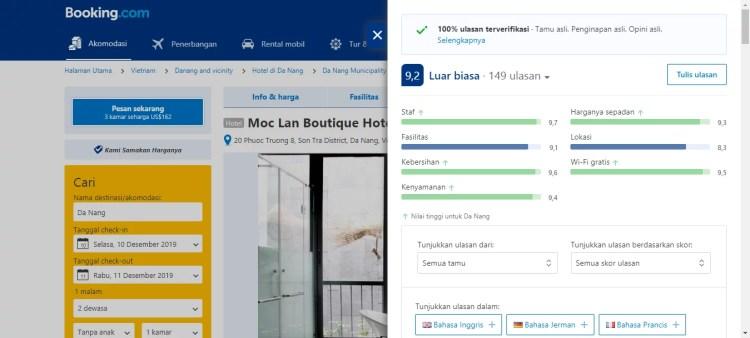 Ulasan tamu hotel Booking.com