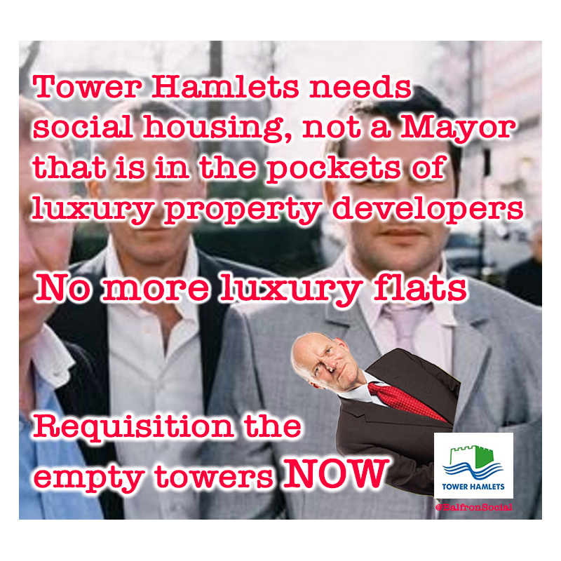 Tower Hamlets needs social housing, not luxury flats