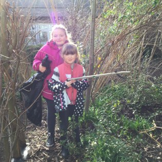 Tidying up the school garden