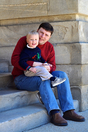 Jim and Patrick on the Capitol steps