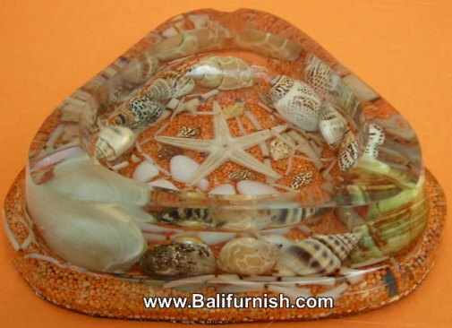 Resin and Sea Shell Ashtray