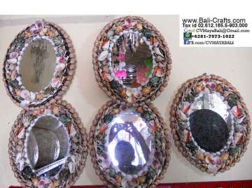 Sea Shell Mirrors Bali Indonesia