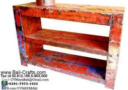 Oildrm1-15 Recycled Oil Barrel Shelves Bali Indonesia