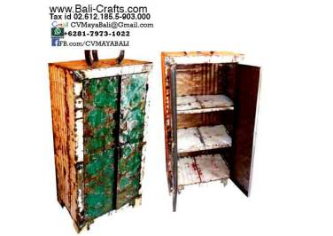 Oildrm1-4 Recycled Oil Drum Furniture Shelves