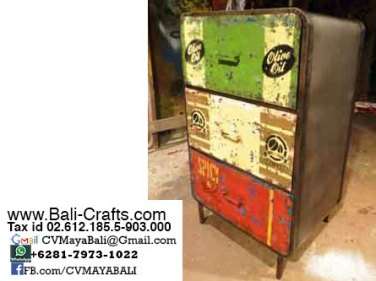 Oildrm1-5 Recycled Oil Barrel Furniture Cabinets