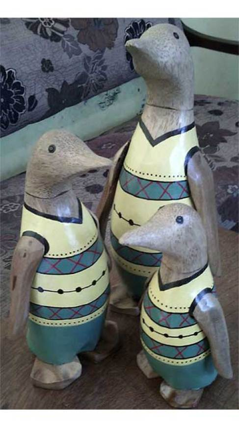 Cute Wooden Animals Bali Indonesia