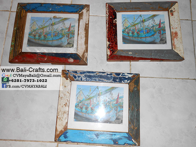 Boat Wood Photo Frames made in Indonesia