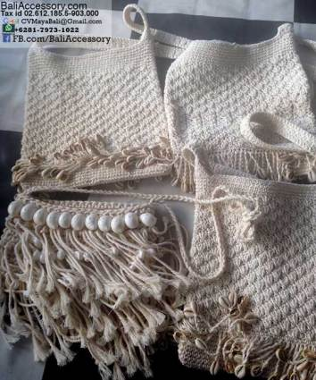 Crochet Sea Shell Handbags from Bali Indonesia