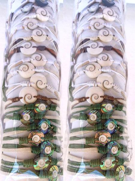 Shiva Eye Bracelet US$ 0.43 Abalone Shell Bracelets US$ 0.60 Subject to change.