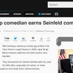 Sikh stand-up comedian earns Seinfeld comparison