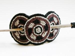 Fermacapelli 3 cerchi con bastoncino