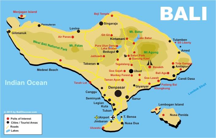 Bali map bali discover bali map gumiabroncs Images