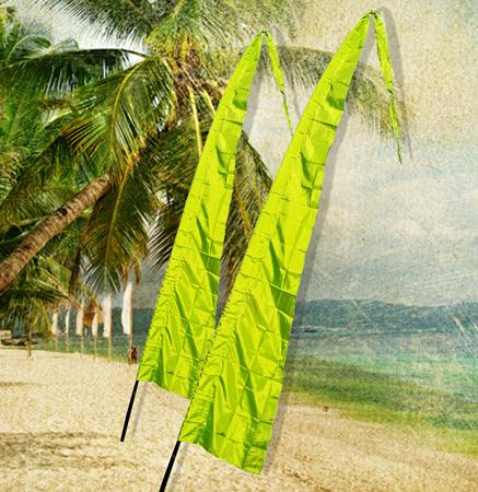 Bali Flag 4m - Lime Green