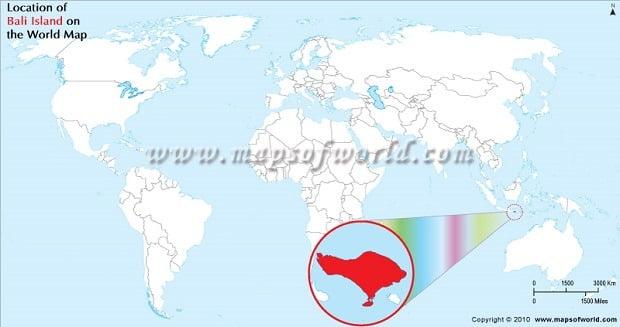 Map Bali Big World