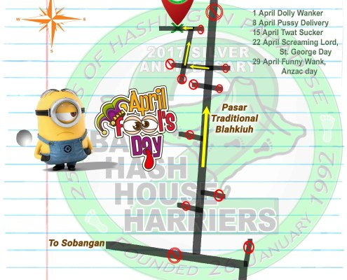 Bali Hash House Harries 2 Next Run Map