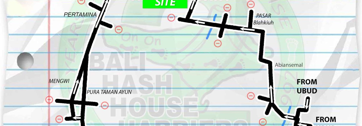Bali Hash 2 Next Run Map #1318 Sobangan Sat 29-Apr-2017