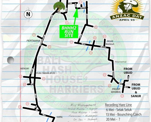 Bali Hash 2 Next Run Map #1318 Sobangan Sat 29-Apr-2017