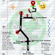 Next Run Map #1321 Lungsiakan Ubud Sat 20-May-2017