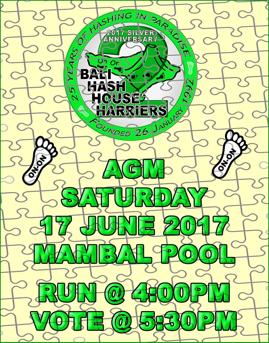 AGM Run 17 June Mambal Swimming Pool