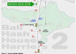 BHHH2 Next Run Map 149 St. Andrews Day Run @ Tegalalang