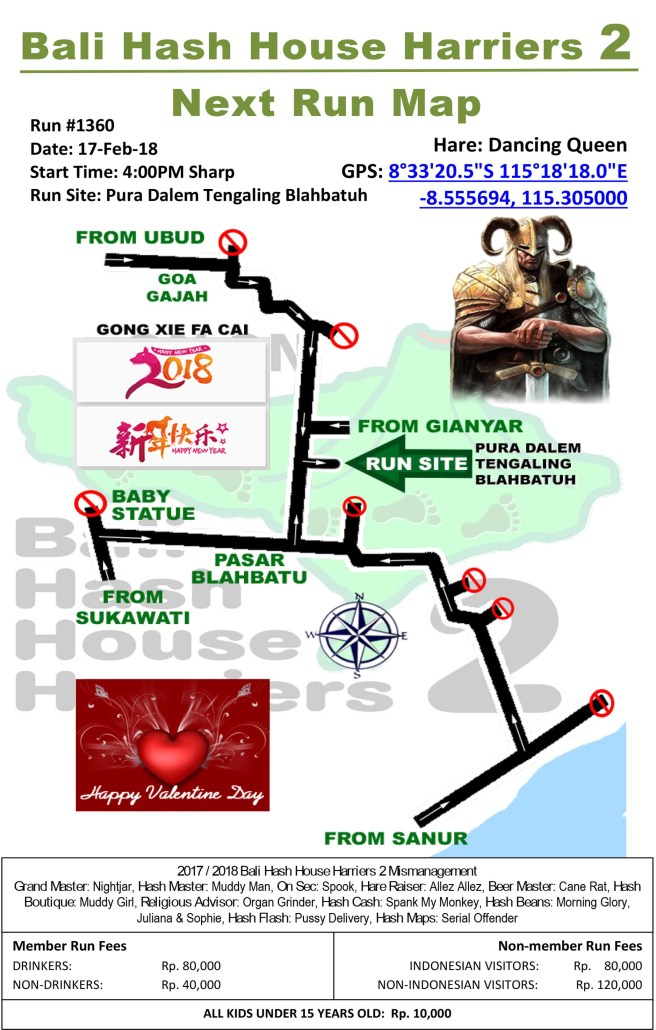 BHHH2 Next Run Map 1360 Pura Dalem Tengaling Desa Blahbatuh 17-Feb-18