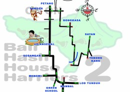 Bali Hash House Harriers 2 BHHH2 Next Run Map #1371 Taman Mumbul Sangeh 5-Mei-18